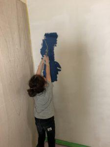 自然素材の塗料 ネイビーブルー